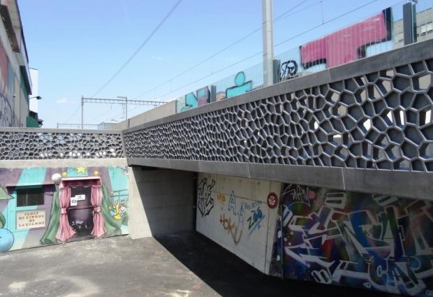 Passerelle en BFUP du Martinet à Lausanne - Suisse